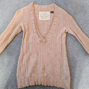 Womens Guess Wool/Cashmere Blend Sweater